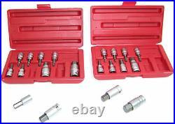 20pc Hex Bit Socket Set Metric & SAE Allen Bit Wrench Tools 3/8 and 1/2