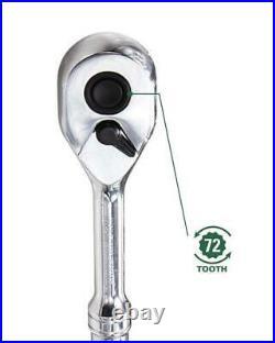 220-Piece Standard (SAE) and Metric Polished Chrome Mechanic's Tool Set NEW Life