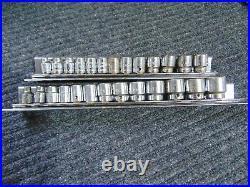 27 Pc SAE & Metric Cornwell Socket Sets 12 Point 3/8 Drive 7-19mm 1/4 1