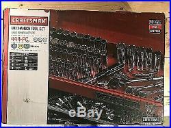 444 Piece Craftsman Mechanics Tool Set Inch Metric New