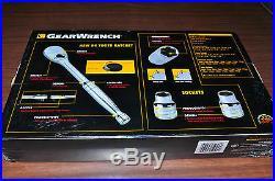 57 Pc. 3/8Drive SAE& Metric Deep & Standard 6 Pt. Socket Set GearWrench 80550 New