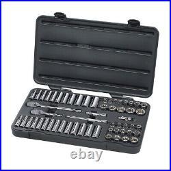 57-Piece 3/8 Drive 6 Point SAE/Metric Socket Set KDT80550 Brand New