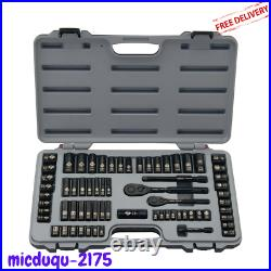 69 Pcs Mechanics Tool Set Stanley Wrench Ratchets Combination Hand Tools Socket
