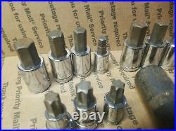 70+ Lisle Napa Stanley Snap On Tools Impact Standard SAE Metric Socket HEX TORX