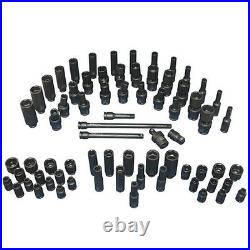 71pc ATD 1/4 Drive SAE Standard & Metric Impact Socket Set with Blow Molded Case