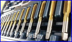 80 Pc Tap & Die Set SAE Standard Tap Metric Die MM Lifetime Warranty Drill Hog