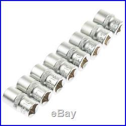BGS Germany 16-pcs 1/2 Drive Metric SAE Torx Head Socket Set 12-Point 8mm-24mm