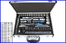 BGS Germany 82-pc Reversible Ratchet Wrench Bit Socket Set 1/4 Drive 1/2 Drive