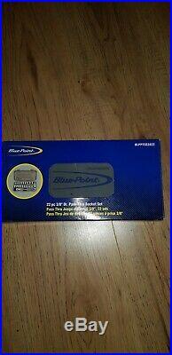 BLUE POINT BY SNAP ON 22pc 3/8 Dr. PASS THRU SOCKET SET BLPPTSS3822