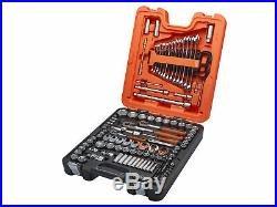 Bahco Mixed Drive Socket & Spanner Set 138-Piece Metric Imperial 1/4 3/8 1/2in