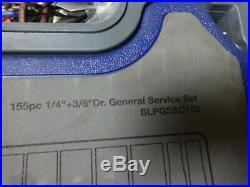 Blue Point 155pc General Service Set BLPGSSC155 1/4 & 3/8 Drive