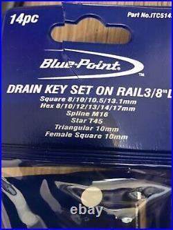 Blue Point 3/8 Drive Drain Key Set 14 Piece NEW