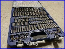 Blue-Point Tools Socket Ratchet Wrench Set Swivel Metric SAE Service Kit 1/4 3/8
