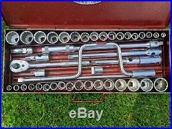 Britool 1960's 1/2 Drive Engineers Socket Set Nô144 Metric & AF Complete
