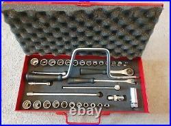 Britool 3/8 Drive Metric & AF 34 Piece Socket Set, England NA640J NOS