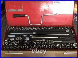 Britool Na760c Socket Set Nearly Complete 1/2 Drive Metric Af Whitworth