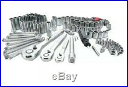 CRAFTSMAN 135-Piece Standard (SAE) and Metric Polished Chrome Mechanics Tool Set