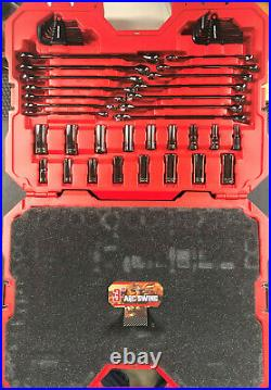 CRAFTSMAN 150-Piece SAE & Metric Gunmetal Chrome Mechanics Tool Set (1/4-3/8)
