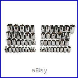 CRAFTSMAN 150-Piece Standard (SAE) and Metric Gunmetal Chrome Mechanics Tool Set