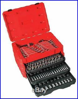 CRAFTSMAN 224-Piece Mechanics Tool Set Standard Metric 72 Tooth Ratchet Wrenches