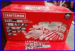 CRAFTSMAN 243-Piece Standard (SAE) and Metric Polished Chrome Mechanics Tool Set