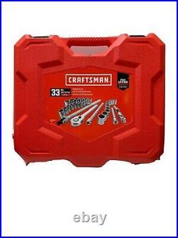 CRAFTSMAN 33-Piece Standard (SAE) And Metric Polished Chrome Mechanics Tool Set