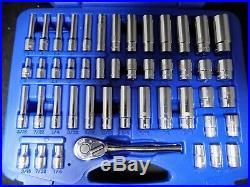 Cornwell CBP1KIT 1/4 Drive 46 Piece blue POWER Standard & Deep Socket Set 6pt