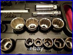 Craftsman 1/2,3/8,1/4 Drive Metric Sae Socket Set In Case 74 Pc Vtg USA