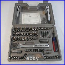 Craftsman 1/4, 3/8 & 1/2 Drive Socket Set Ratchet Made in USA