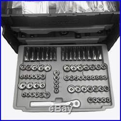 Craftsman 250pc Mechanics USA Tool Box Socket Wrench Set 1/4 3/8 1/2 Metric SAE