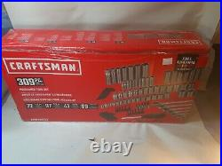Craftsman 309 Piece Mechanics Tool Set, Standard SAE & Metric Polished Chrome