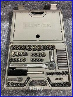 Craftsman 33676 1/4 3/8 1/2 76 Piece Mechanic's Tool Set Made in USA