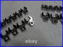 Craftsman 3/8 Drive Standard SAE + Metric MM Crowfoot Wrench Set 20 pcs
