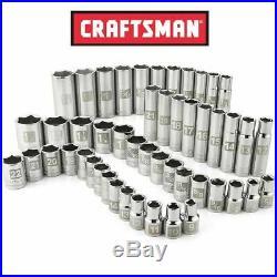 Craftsman 49 Piece 6 pt 1/2 Inch Drive Standard Deep Socket Set SAE Metric