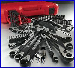 Craftsman 56-Piece Universal Mechanics Tool Set & Case, SAE Metric Socket Wrench