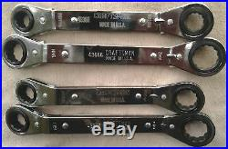 Craftsman USA Ratcheting Wrench Set, Box-End, Offset, Standard/Metric, SAE/MM