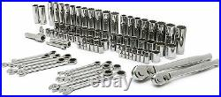 Crescent 90 Piece PRO Mechanic Tool Set with Ratcheting Wrenches, SAE & MM CTK90