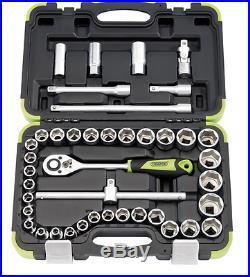 DRAPER 15406 41pc 1/2 Sq. Dr Metric Socket Set In Carrying Case 3 Year Warranty