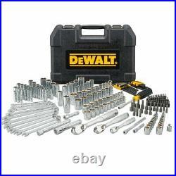 DeWALT DWMT81534 Durable Chrome SAE Quick Release Mechanics Tool Set 205pc