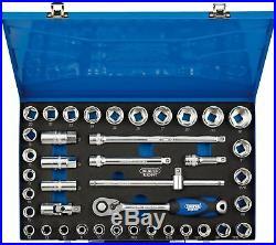 Draper 1/2 Sq. Dr. Combined Mm/Af Socket Set In Metal Case 40 Piece