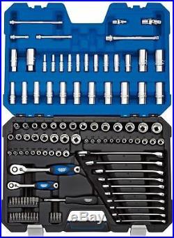 Draper 1/4 And 3/8 Sq. Dr. Combined Mm/Af Socket Set 114 Piece