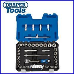 Draper Expert 1/2 Sq Dr. Combined MM/AF socket set 41 piece 16453