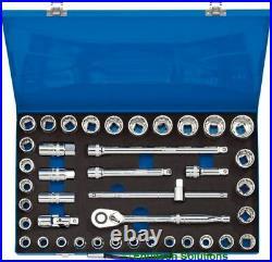 Draper Expert Tools 16478 1/2 Drive MM/AF Socket Set 40 Piece Metric Imperial