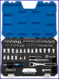 Draper Go Through, 1/4, 3/8 Sq. Dr. Mm/Af Combined Socket Set 71 Piece