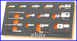 Franklin 16 Piece Mixed Drive Bit & Socket Adapter Reducer Set XFA16