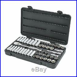 GEARWRENCH 49 Pc. 1/2 Drive 6 Point Standard Deep SAE/Metric Mechanics Tool set