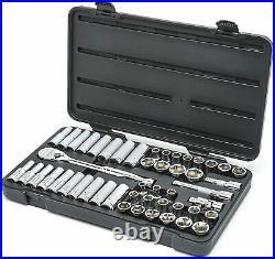 GEARWRENCH 49 Pc. 1/2 Drive 6 Pt. Socket Set, Standard/Deep, SAE/Metric 80700