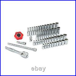 GEARWRENCH Mechanics Tool Set 1/4 in. Drive SAE/Metric Standard (51-Pieces)