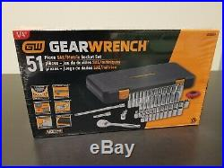 GearWrench 80300P 1/4-Inch Drive SAE/Metric 6 Point Standard & Deep Socket Set