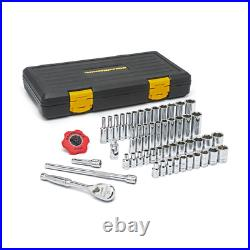GearWrench 80300P 1/4 in. Drive Ratchet SAE METRIC 51-Piece Socket Set with Case